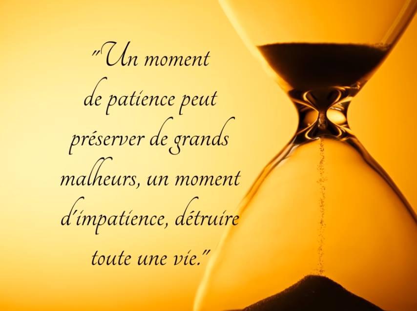 Un moment de patience